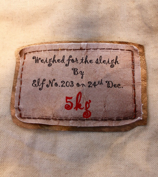 xmas sack label