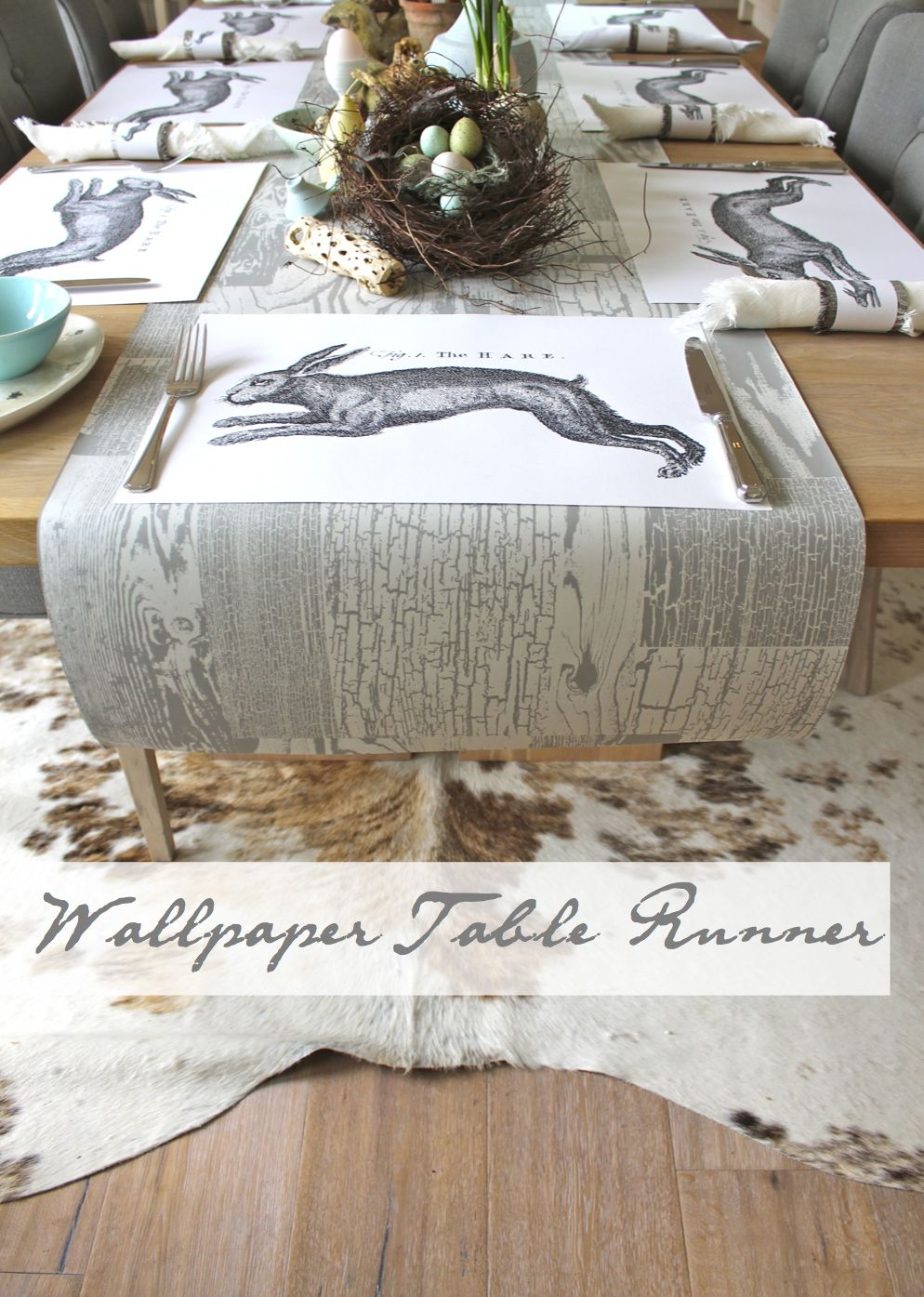 Kate's « table Space  wallpaper runner pinterest Creative tablecloth