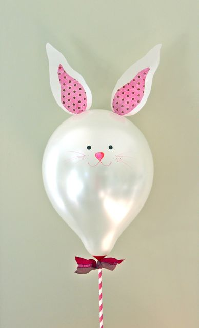 DIY bunny balloon