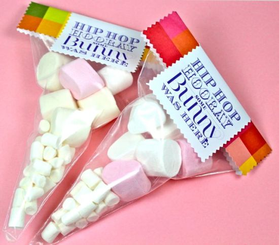 easter bunny tails - marshmallow treats