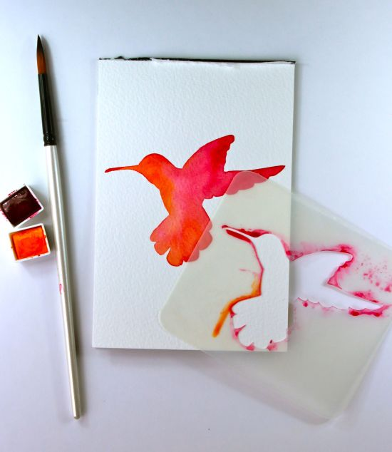 Kate's Creative Space and Watercolor Bird-in-pinks