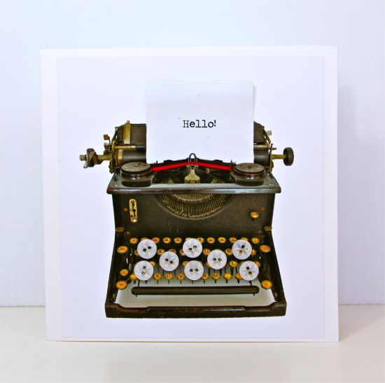 Hello Typewriter card