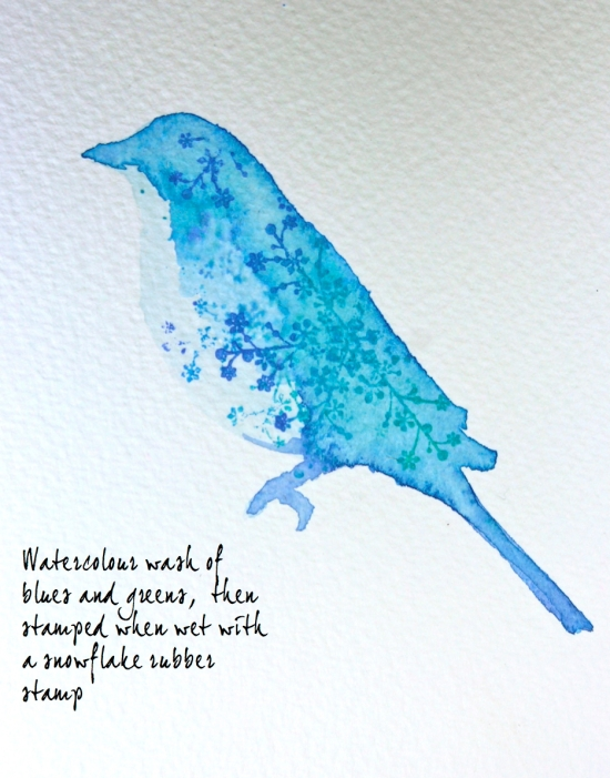 watercolour stencil and stamp